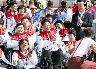 Jeux paralympiques : arrivée à Londres des athlètes sud-coréens