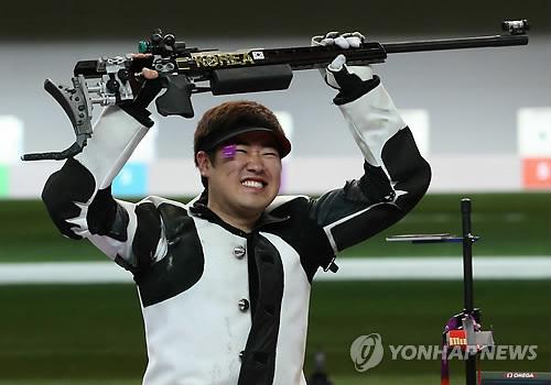 JO: médaille d'argent pour Kim Jong-hyun en tir à la carabine trois positions