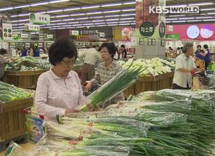 台風で作況悪化 秋夕控えて物価上昇