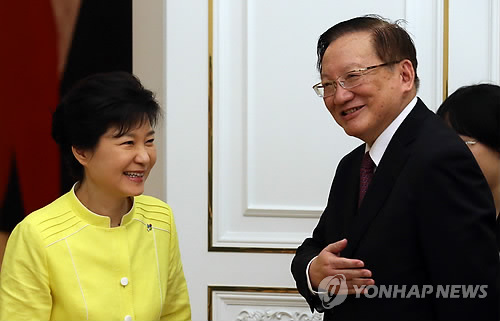Park to Meet with China's Ex-State Councilor Tuesday