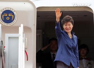 Staatspräsidentin Park bricht zu Besuchen in Kanada und den USA auf