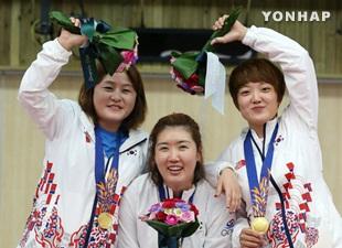 Korea Selatan menang emas di nomor pistol angin 25 meter beregu putri