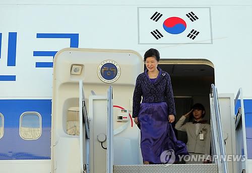 Präsidentin Park Geun-hye trifft in New York ein