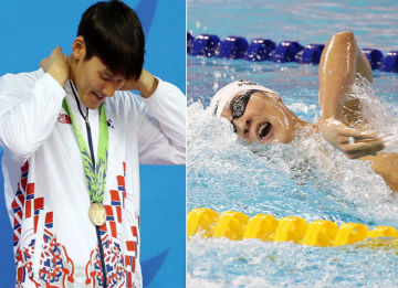 S. Korean Swimmer Park Tae-hwan Wins Bronze in 400M Freestyle