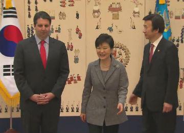 La presidenta recibe al nuevo embajador de EEUU en Seúl
