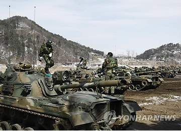 """韩美2日开始举行""""关键决断""""和""""秃鹫""""联合军演"""