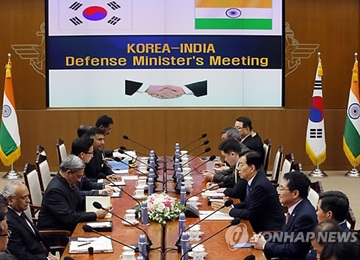 S. Korea, India Defense Chiefs Agree to Strengthen Cooperation