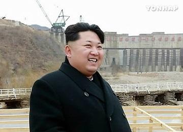북한 김정은 백두산 인근 수력발전소 건설장 시찰