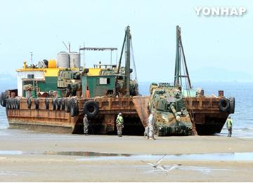 Corea del Sur y EEUU realizan una gran maniobra de desembarco