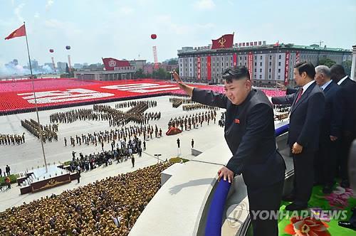 북한 '사상 최대' 열병식 준비...중국 류윈산 방북