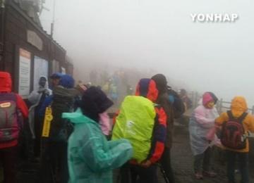 Salju Pertama Turun di Gunung Seorak, 6 hari Lebih Cepat dari Tahun Lalu