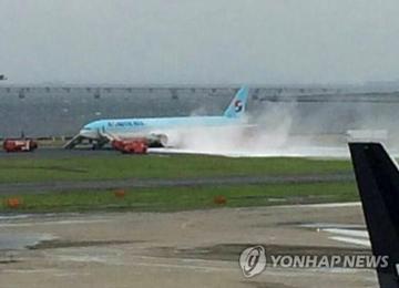 Korean Air Plane Catches Fire; Passengers Evacuated