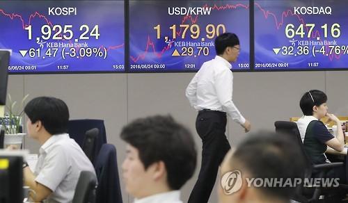 韩国金融市场因英国退欧出现动荡 股价暴跌韩元贬值