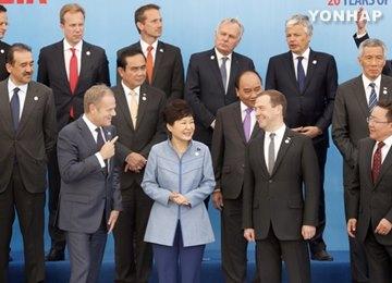 朴大統領 ラオス・ベトナム・EU首脳と会談