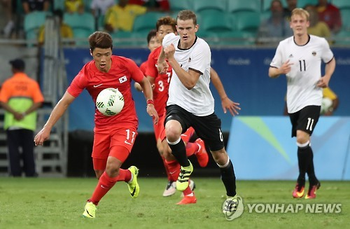 Korean Footballers Draw with Germany 3-3