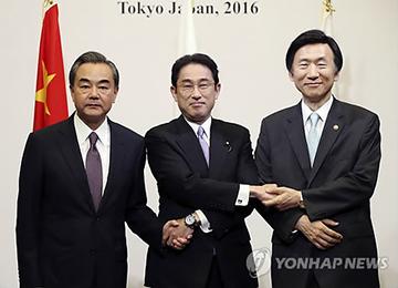 韩中日外长:三国将主导对北韩导弹威胁采取应对措施