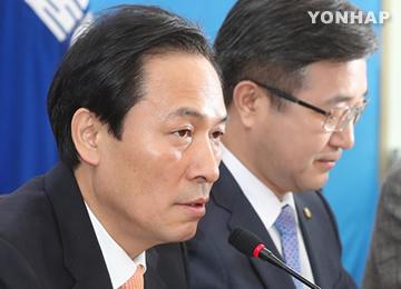 """우상호 """"해임건의 야당 공조 균열 유감""""···박지원 """"두 야에 죄송"""""""