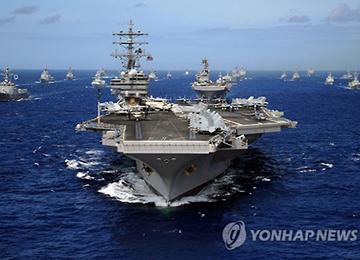 """미국 핵항모 레이건호 한반도 출현에 중국 """"긴장고조시키지 마라"""""""