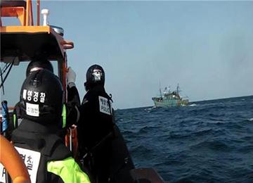 해경, 백령도 해역 불법 조업 중국어선 3척 나포