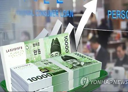 韓国の家計負債 過去最高額に