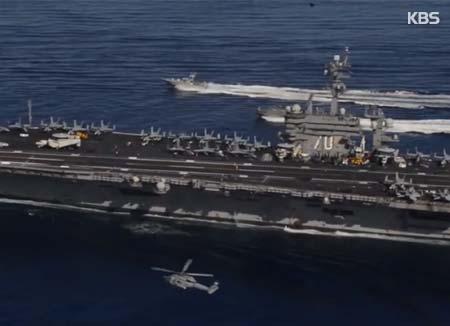 米空母「カール・ヴィンソン」 韓半島近海に追加配置へ