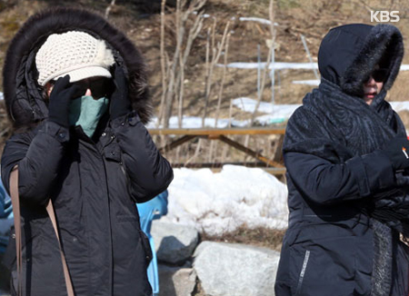この冬一番の寒さ 昼も氷点下