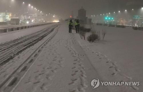 Dichte Schneedecke überzieht viele Gebiete Südkoreas