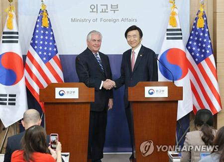 米国務長官が韓国入り 午後に韓米外相会談