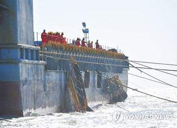 Test Lift of Sunken Sewol Ferry Starts