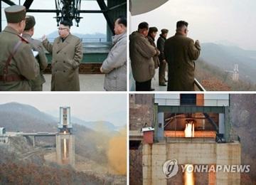 북, 신형 고출력로켓엔진 지상분출시험…ICBM 발사 예고