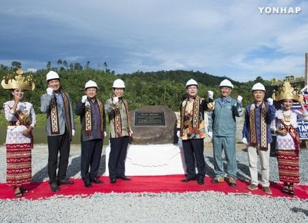 KOMIPO Berhasil Mengisi Air Bendungan Tanggamus, Indonesia
