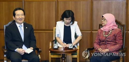 Assembly Speaker Chung Meets Singaporean Parliament Speaker
