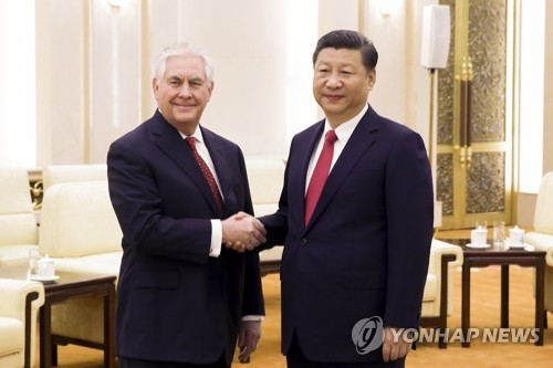 US State Secretary Tillerson Meets Chinese President Xi