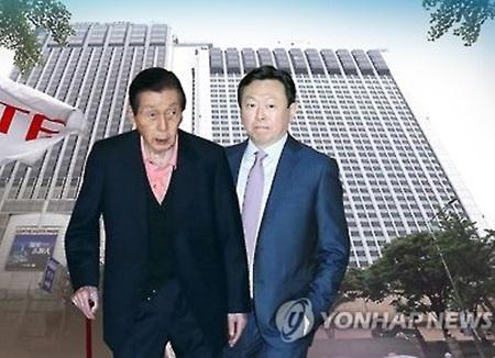 롯데 가 신격호 3부자 오늘 법정에···서미경도 출석 예정