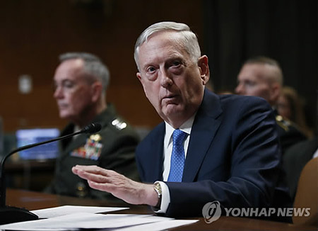 """미국 국방장관 """"강력한 핵 억지력 필요"""""""