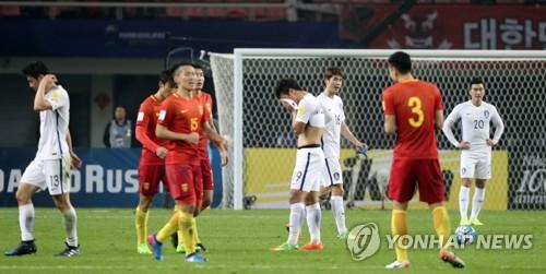 Qualification pour le mondial de football: la Corée du Sud battue par la Chine 0 à 1
