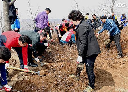 4月5日の「植樹の日」 気温上昇で3月実施を検討