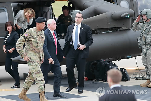'Sword Stands Ready' Against North Korea, Pence Tells Troops in Japan