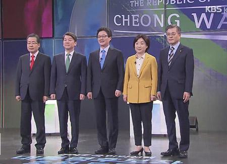 Presidential Candidates' KBS TV Debate in Standing Format
