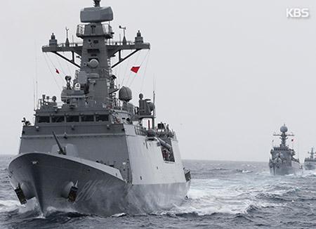 المدمرة ديه جو يونغ تشارك في مناورات مكافحة القرصنة
