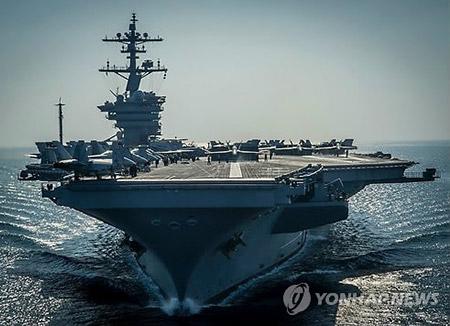 """북한 """"미국 항공모함, 가까이 올수록 섬멸적 타격 효과 커져"""""""
