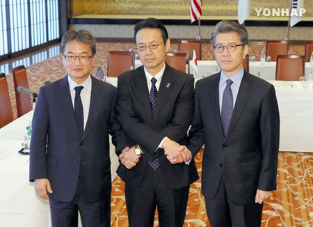 六方会谈韩美日团长商定加强对北施压 武大伟将访日