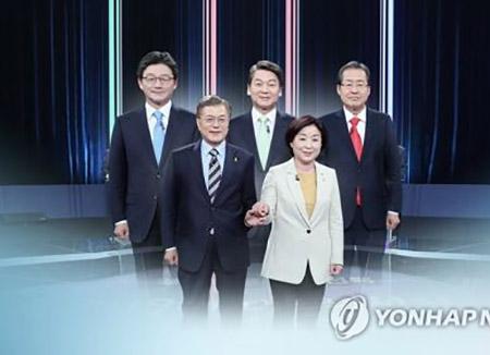 Sondage Gallup : Moon, Ahn et Hong partagent respectivement 40, 24 et 12 % des voix
