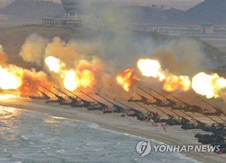 Nordkorea hielt zum Gründungstag der Armee große Artillerieübung ab