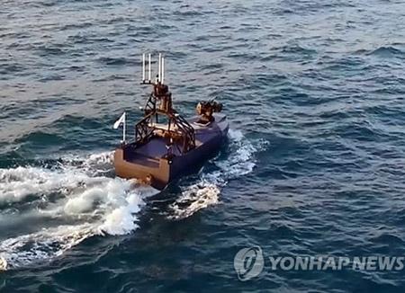 防衛事業庁 27日、国産の無人水上艇を公開