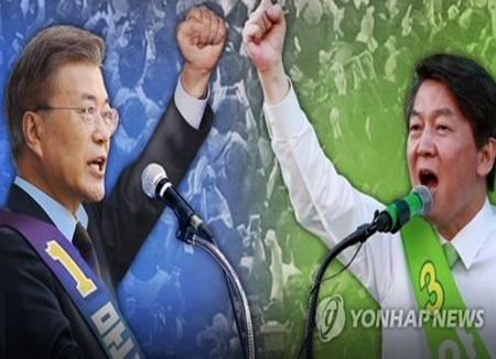 مون جيه إين يتقدم على آن تشول سو بفارق 16%
