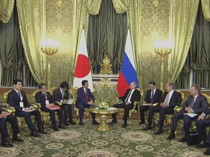 Putin, Abe Agree to Cooperate on Restraining N. Korea's Provocations