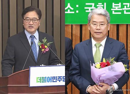 민주당 새 원내대표에 우원식…국민의당은 김동철