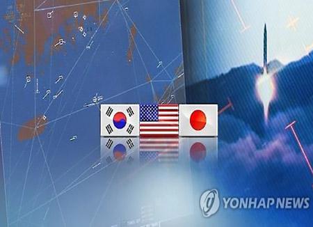 """한미일 국방 당국 화상회의...""""북한 미사일 도발, 용납 못해"""""""