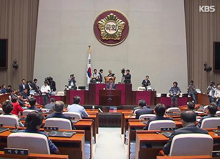 한국당, 의원총회서 당 활로 모색..일각선 지도부 책임론